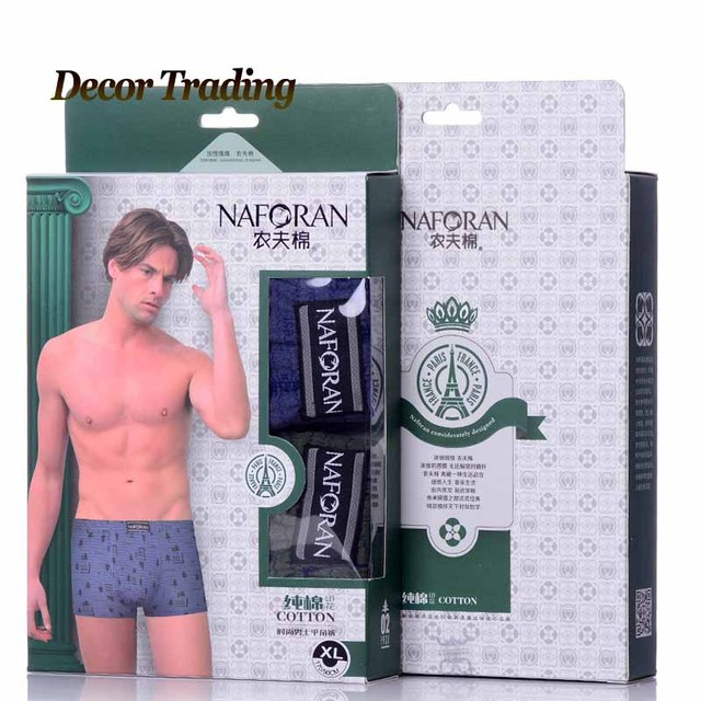 2PCS/LOT 2016 New 100% Cotton Sexy Men's boxers underwear men cuecas Mens Boxer Fashion Men shorts boxer underpants C6082