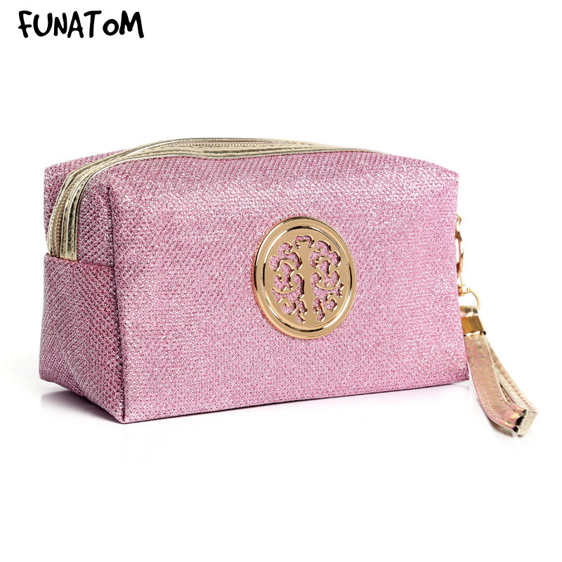Women Pink Cosmetic Bag Travel Make Up Bags Fashion Ladies Makeup Pouch Neceser Toiletry Organizer Case Clutch Tote Hot Sale