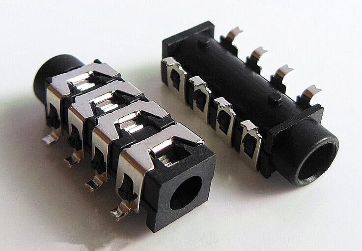 Sourcingmap/® 15 pcs 8 SMD /à Broche 3.5mm Femelle connecteur Audio Jack pour /écouteurs