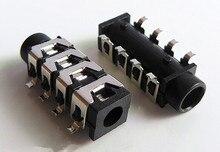 10PCS 3.5mm Female Audio Connector 8 Pin SMT SMD Headphone Jack Socket PJ-313E