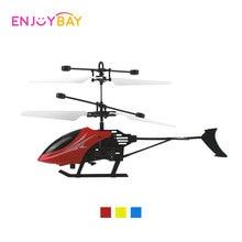 Enjoybay kézi indukciós helikopterek infravörös RC távoli helikopter Mini infravörös repülőgép USB újratölthető születésnapi ajándék gyerekeknek