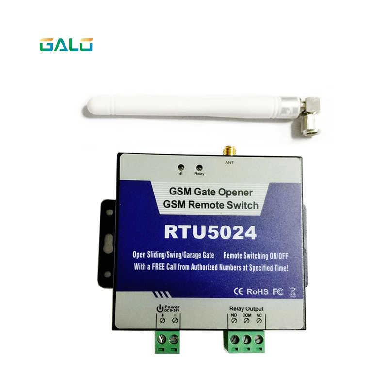 Upgrated RTU5024 GSM Gate Door Opener Operator With SMS Remote Control Alarm 1 Output And 2 Inputs App
