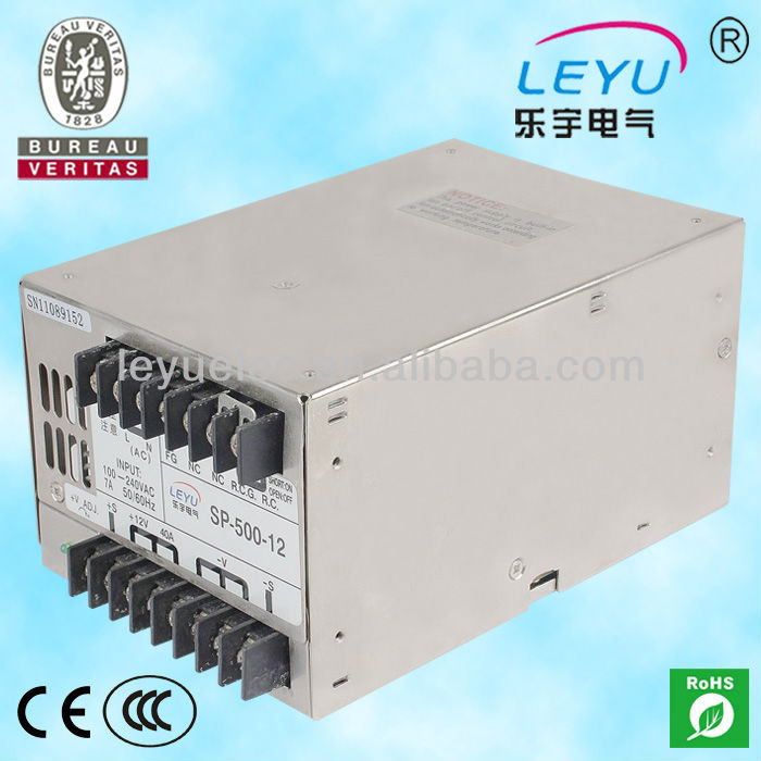 15v ac dc sp 75 15 single output with pfc function input fully range switching power supply High frequency SP-500-12 ac dc single output PFC function switching power supply