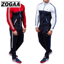 2 Pieces Set for Men Pant and Tops ZOGAA 2018 New Fashion Plus Size XS-4XL Sportswear SummerTracksuit Sweatsuit