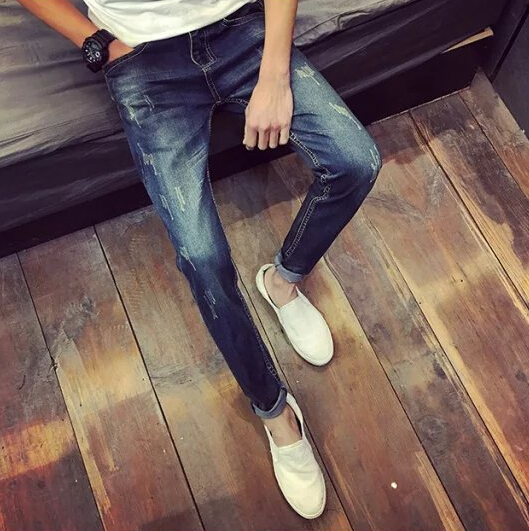 2017 New Arrival Fashion Autumn&Winter Style Men Jeans Slim Good Elasticity Casual Wear new arrival fashion style couple wear shoes striped men women winter time slippers indoor wear unisex good quality comfortable