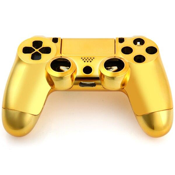 ABS + Metallbeschichtung Shell Fall für PlayStation4 PS4 Wireless Ersatzteile Für PS4 Für Dualshock 4 Zubehör