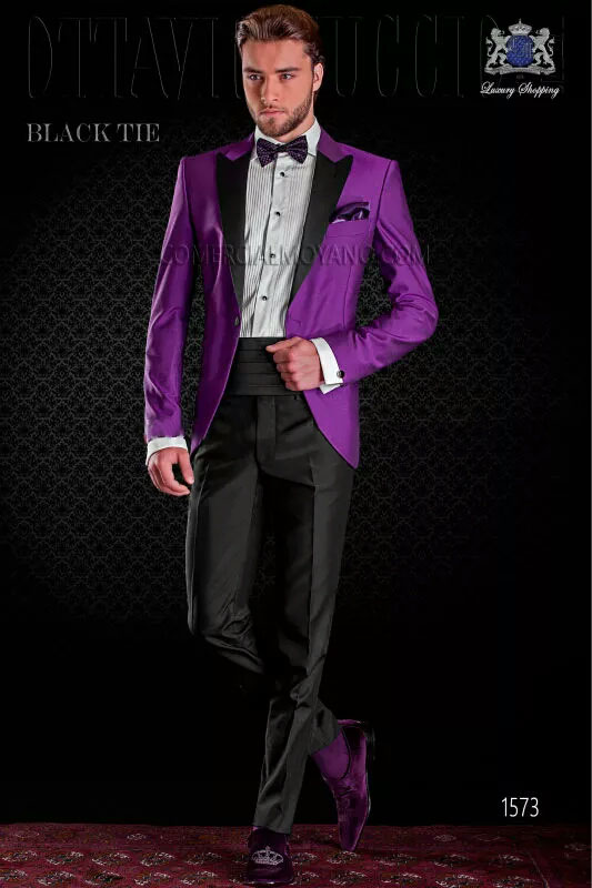 Aliexpress.com : Buy 2016 Newest Black Lapel Purple Wedding Suits ...