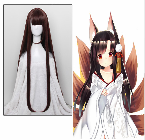 Game Azur Lane Cosplay Wigs Akagi Cosplay Wig Heat Resistant Synthetic Halloween Party Women Cosplay Long Wigs+ Wig Cap