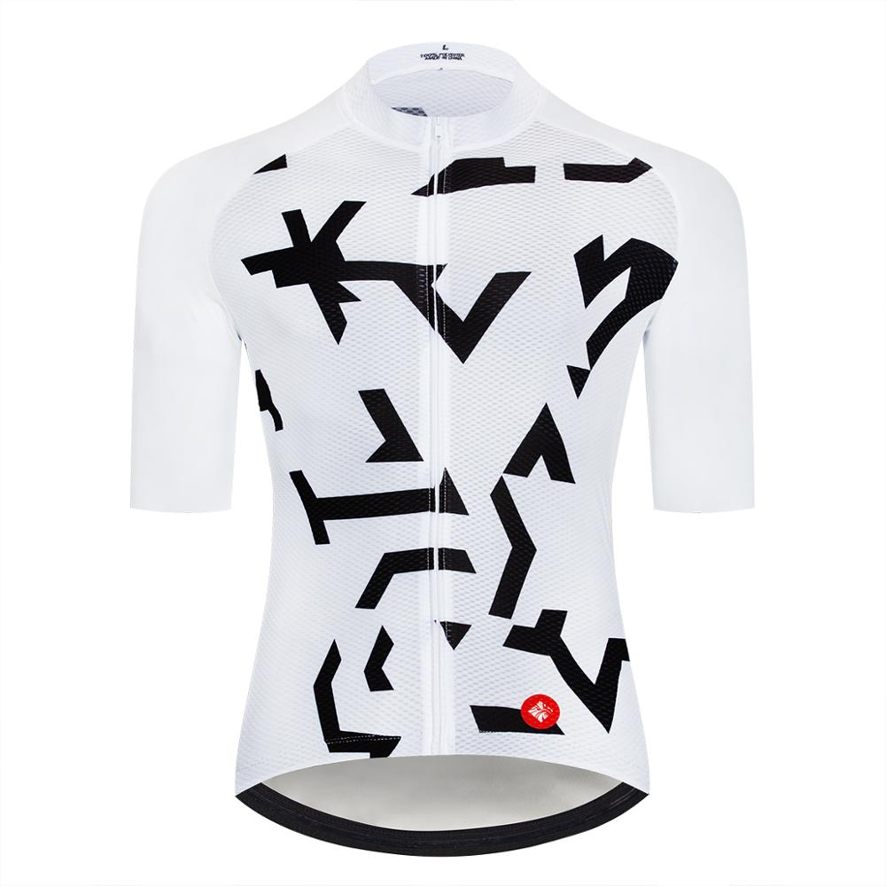 Low Cost Short Sleeves Geeklion Cycling Jersey Professional Ciclismo Maillot Male White Racing Fit Bicycle Clothing 4000026644768