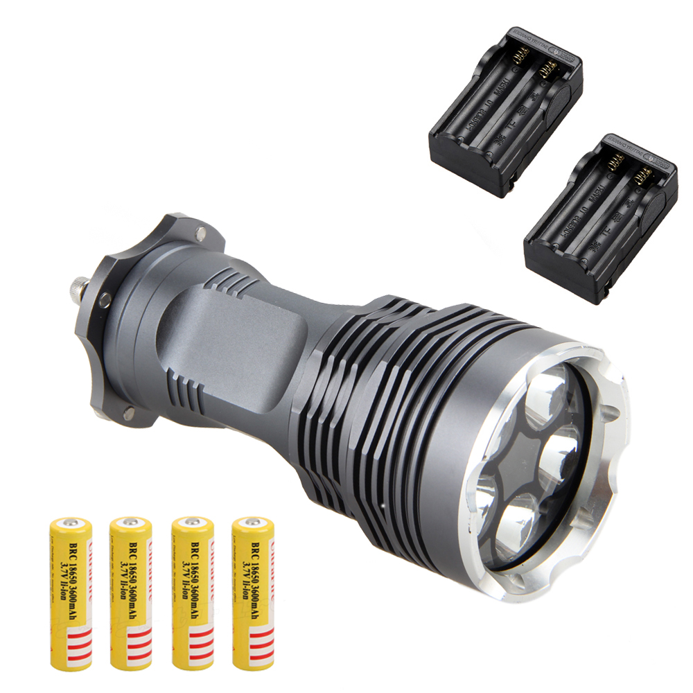 Rechargeable 12000 Lumen 5x XM-L T6 LED Flashlight Torch Lamp 18650 Charger rechargeable flashlight led torch xm l t6 xm l2 waterproof 3800 lumen 5 mode lanterna camping flashlight lamp batteries 18650