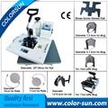 Combo многофункциональный 9 в 1 машина давления жары для футболке/cap/кружки/плиты/телефон случае/обуви/шок/перчатки печати
