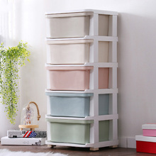 2019 Big Plastic Storage Boxes Organizor Office Box New Macaron Drawer Organizer Cabinet N3545