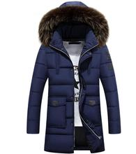 Men's Down Jackets Mens Brand Thick Warm Fur Collar Hooded Duck Men cotton-padded Male Casual Winter Jacket Men Chaqueta Hombre