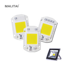 High Power COB Chip LED lamp Bulb 10W 20W 30W 50W Floodlight light Source 220V Smart IC Driver DIY Outdoor Flood Spotlight(China)