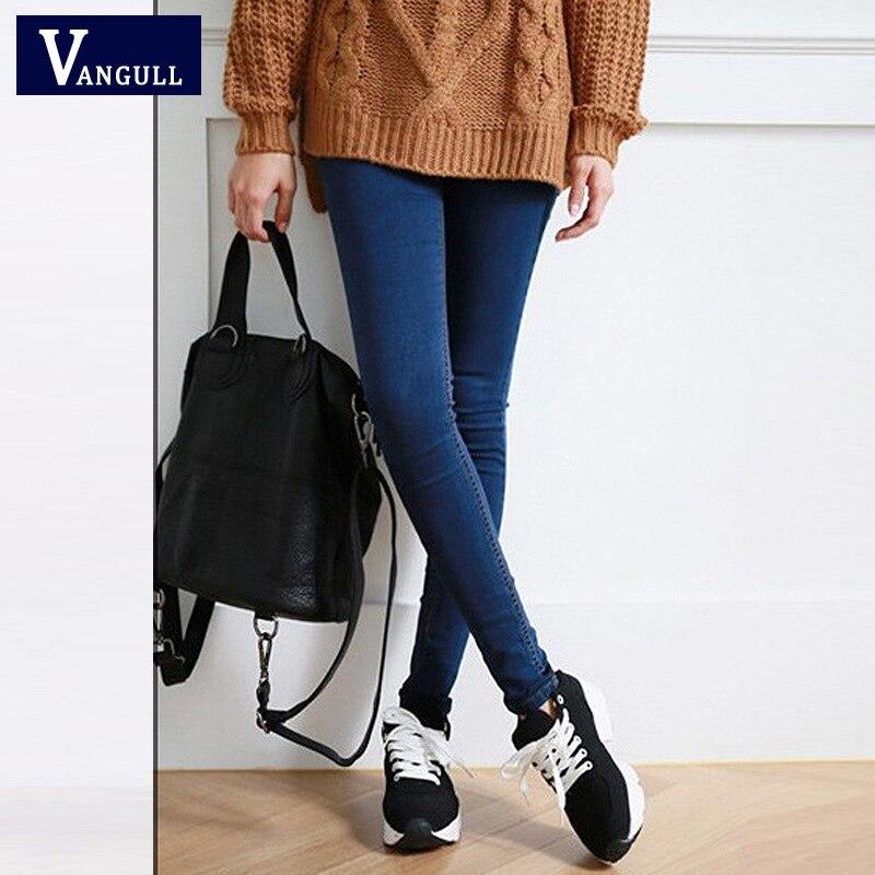 Skinny Jeans Donna Autunno Nuovo 2018 di Alta Qualità Delle Donne di Modo Sottile Dei Jeans Femminili lavato casual skinny Stretch Pantaloni della matita Del Denim