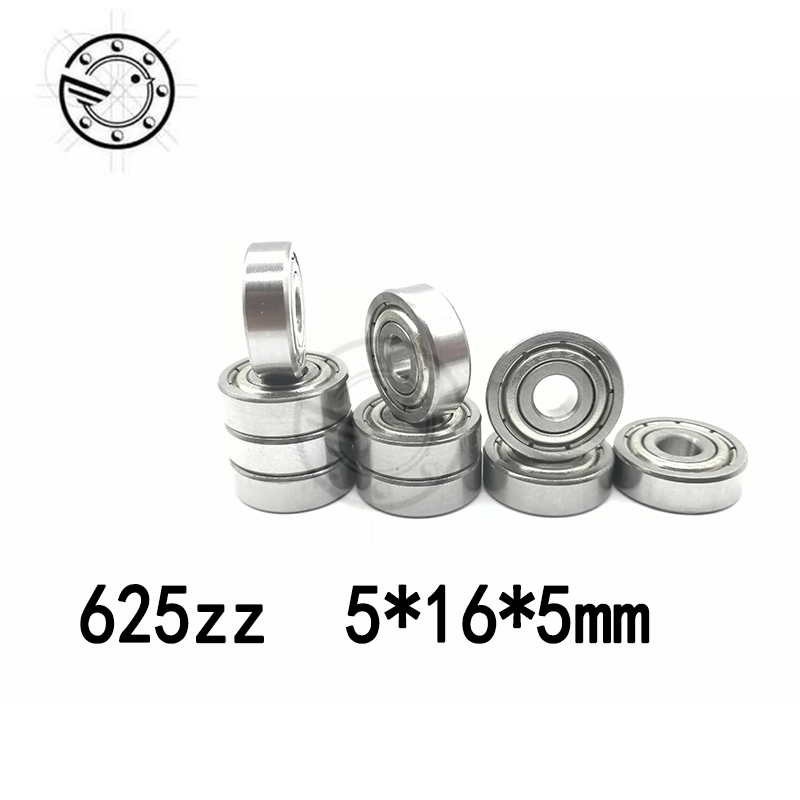 Free shipping 625 ZZ (10PCS) 5*16*5mm Miniature Ball Bearings 625Z Deep Groove Ball Bearing 5x16x5mm 625ZZ 2Z