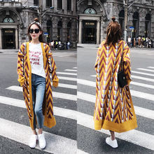 Women Winter Long Knit Cardigan