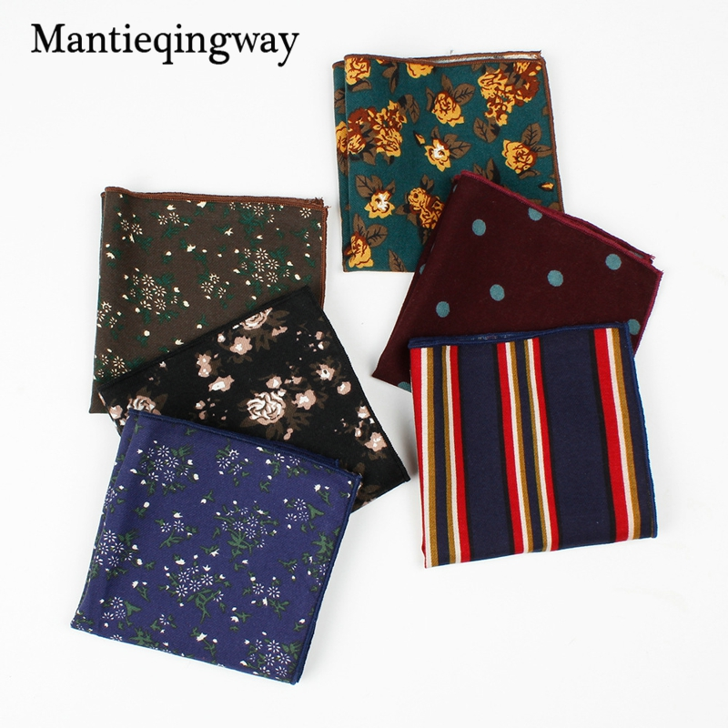 Floral Cotton 24*24cm Print Men's Clothing Accessories Pocket Handkerchief For Suits Pocket Square Hanky Towel