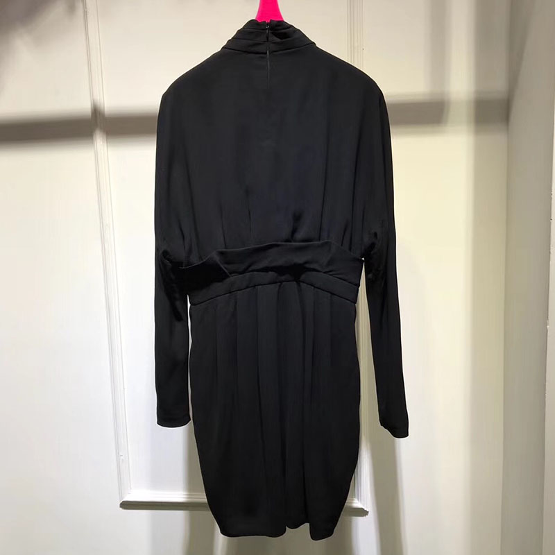 Robes Split Sexy Noir Femmes Longues Parti Moulante V Profond Robe Mini De Manches Dames En Col À g6g0Y
