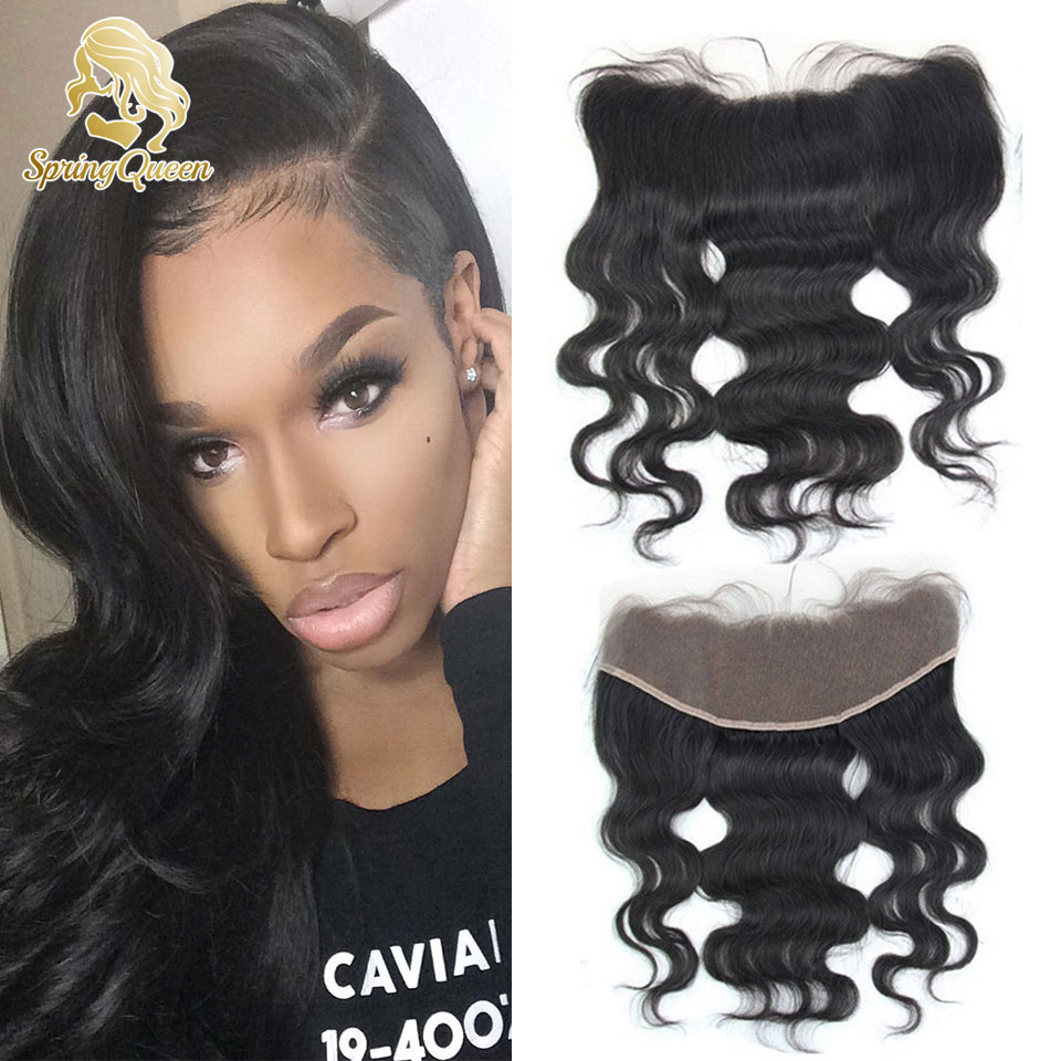 7a unprocessed lace frontal body wave brazilian hair