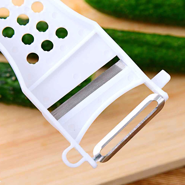 Multi-Functional White Plastic Peeler