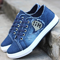 Hot Selling New Women Lady Stylish Casual Mujer Female Low Shallow Lacing Denim Canvas Students Jogging Flat Plimsoll Shoes G060