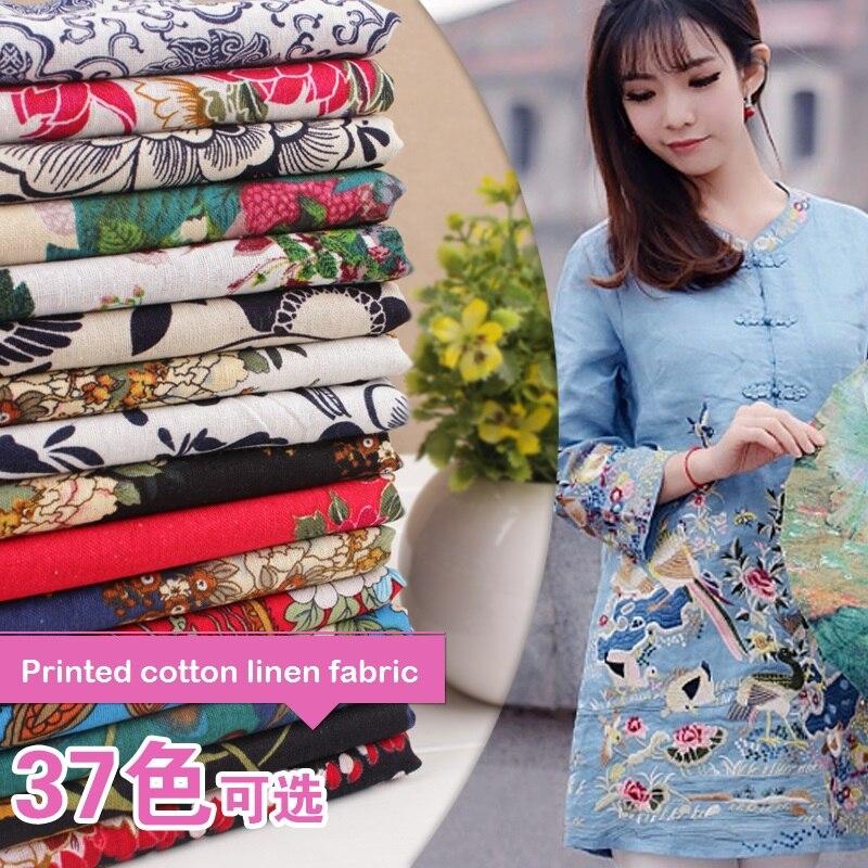 Blouse chinoise en coton avec motif flor ...
