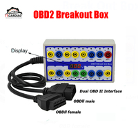 OBD2 Breakout Box Car OBD 2 Break Out Box Car Protocol Detector Auto Can Test Box Automotive Connector Car detector Obd2 Scanner