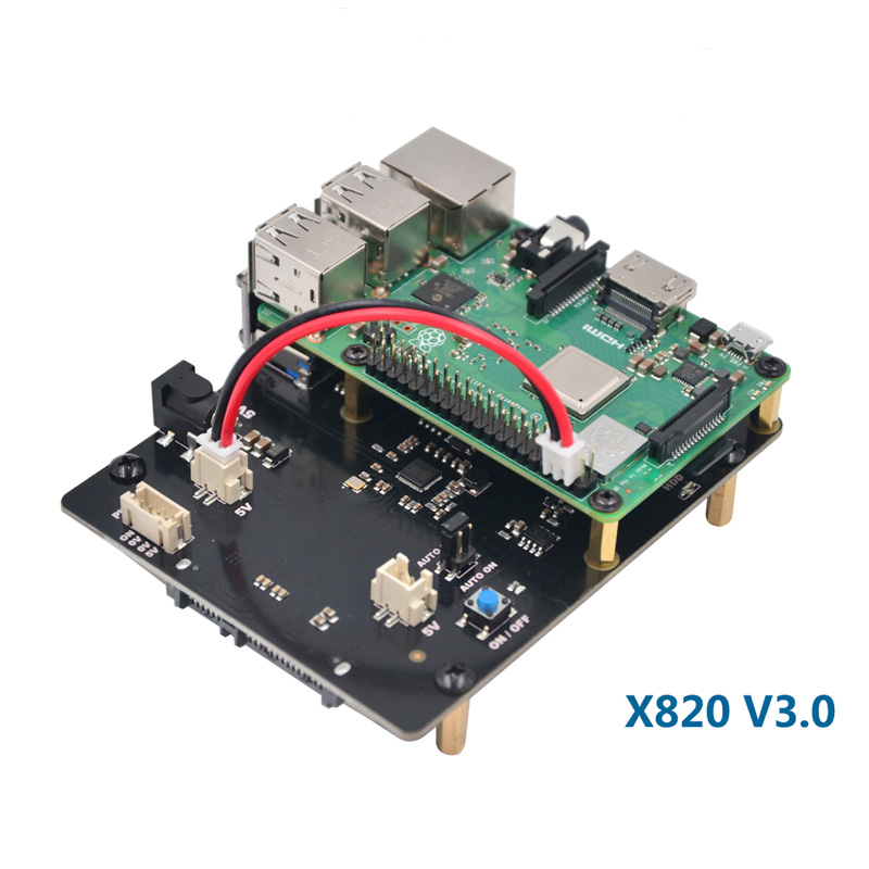 Raspberry Pi 3 Model B+ SATA HDD/SSD Storage Expansion Board X820 USB 3.0 Expansion Board Compatible With 2.5 Inch SATA HDD/SSD