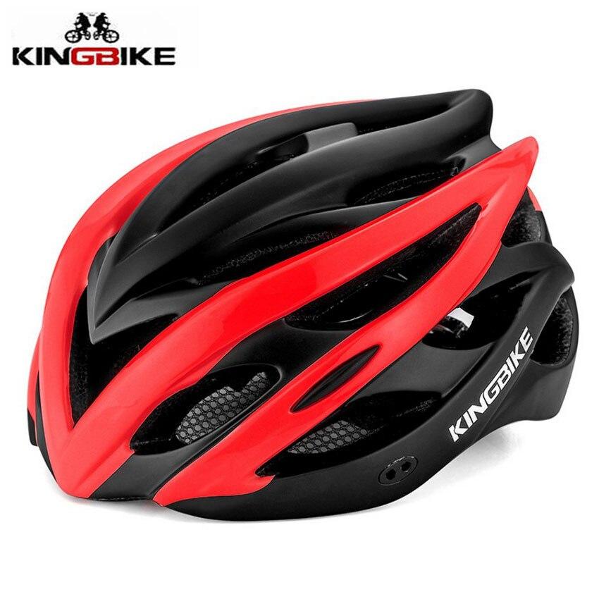 KINGBIKE Bike Helmet Bicycle Helmet Road Bike Men Women Casco Ciclismo MTB Ultralight Integrally-molded With Light Cycle Helmets