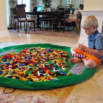 150 cm ילדים ילדי תינוק לשחק מחצלת שטיח שטיח אמבטיה צעצוע אחסון תיק תיבה ארגונית סל גדול קיבולת שמיכת Boxs משחק צעצועים