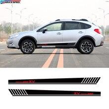Per Subaru XV AWD Sport Gonna Lato Strisce Car Styling Porta Decorazione Adesivi Auto Del Corpo Su Misura Decalcomania Del Vinile Accessori Esterni