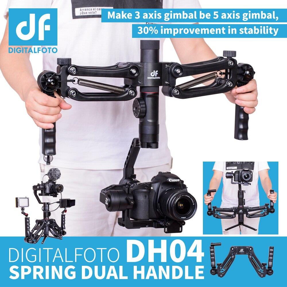 DH04 4,5 kg de carga de 3 ejes cardán primavera doble Mango para RONIN S Zhiyun liso 4 Crane 2 Crane más Feiyu AK2000 AK4000