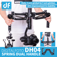 DH04 4.5KG load 3 axis Gimbal Spring Dual Handle Grip for RONIN S Zhiyun Smooth 4 Crane 2 Crane Plus Feiyu AK2000 AK4000