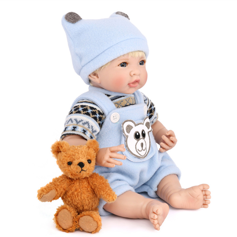 Simulation of Reborn Baby Soft Rubber Baby Doll for Playing House Baby Toys Educational Toy for Children Girls and boys t3184b educational toy coin slide chip game toy playing toy set
