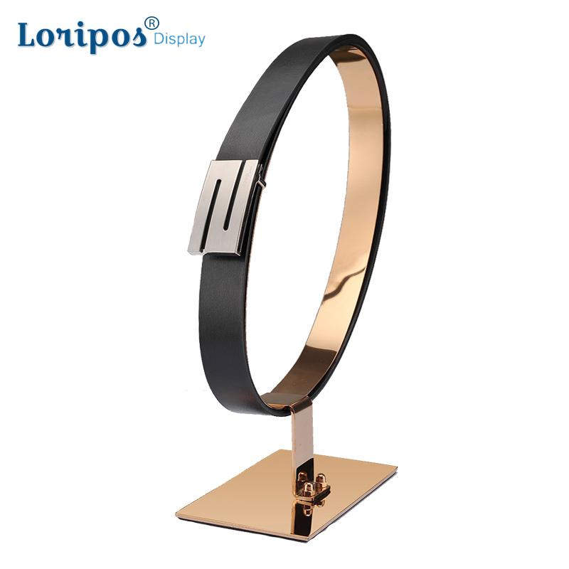 Supports d'affichage de ceinture support de présentoir de ceinture d'acier inoxydable support de ceinture en cuir de bureau pour les accessoires d'affichage de Boutiques