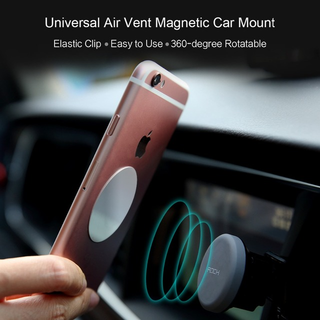 ROCK Magnet Car Phone Holder Air Vent Outlet Rotatable Mount Magnetic Mobile Phone Holders & Stands Universal For iphone Samsung