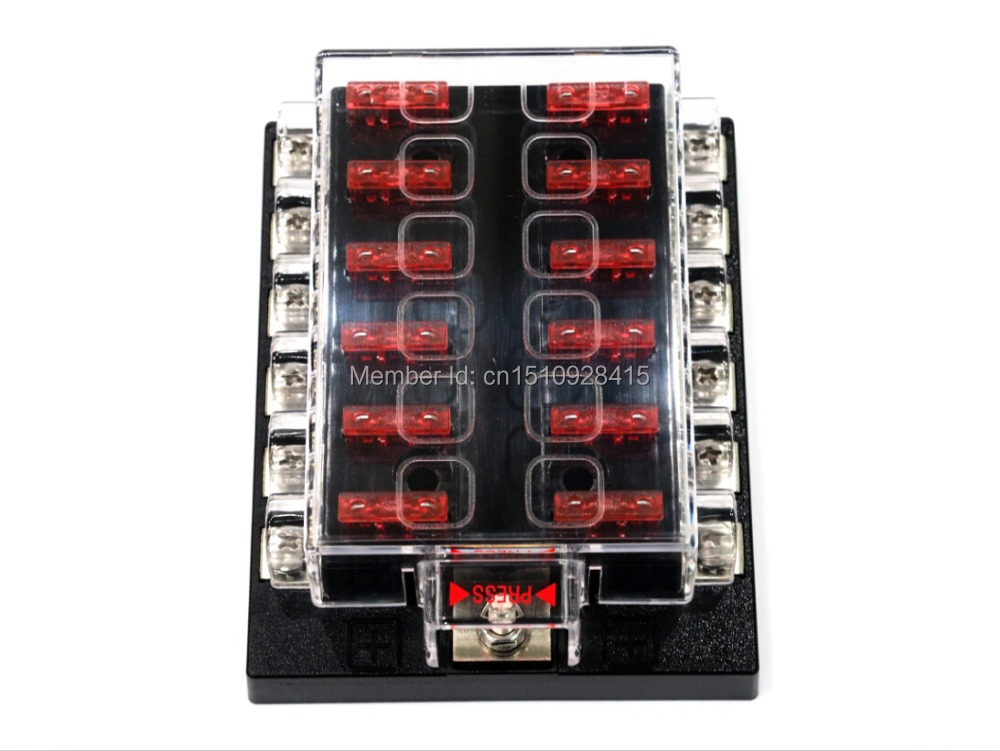12 Way Blade Fuse Box Bus Bar Kit Car Boat Marine FuseBox Holder 12V 24V Volt 12 way blade fuse box & bus bar kit car boat marine fusebox holder busbar fuse box at creativeand.co