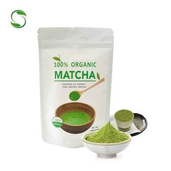 3 packs Organic matcha tea bag powder Slimming Tea Pure Organic Portable Matcha Green Tea Powder Japanese  100g*3 Weight loss tea