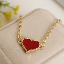 New Fashion 2018 Bracelet for Girls and Women Jewelry Cubic Zirconia Charm Pendant Trendy Black Heart Christmas Party Gift(China)