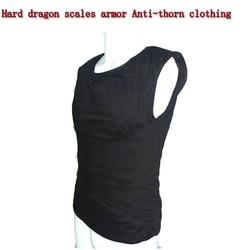 Zelfverdediging Anti-Stab Vesten Hard dragon scales armor Anti-doorn kleding Fit Lichtgewicht onzichtbare Lichaam Bescherming anti-cut Top