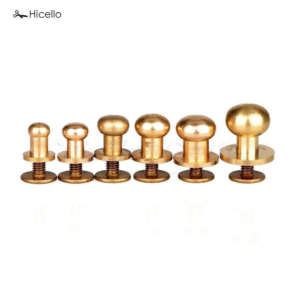 10pcs M4 brass slotted screws copper one word cylinder head slotting column bolt