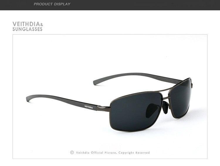Стильные новые поляризованные мужские солнцезащитные спортивные очки. В наличие 3 цвета. Алюминевая оправа, мужские солнцезащитные очки для вождения. Очки, аксессуары для глаз. Артикул- 2458 - Цвет линз: Серый