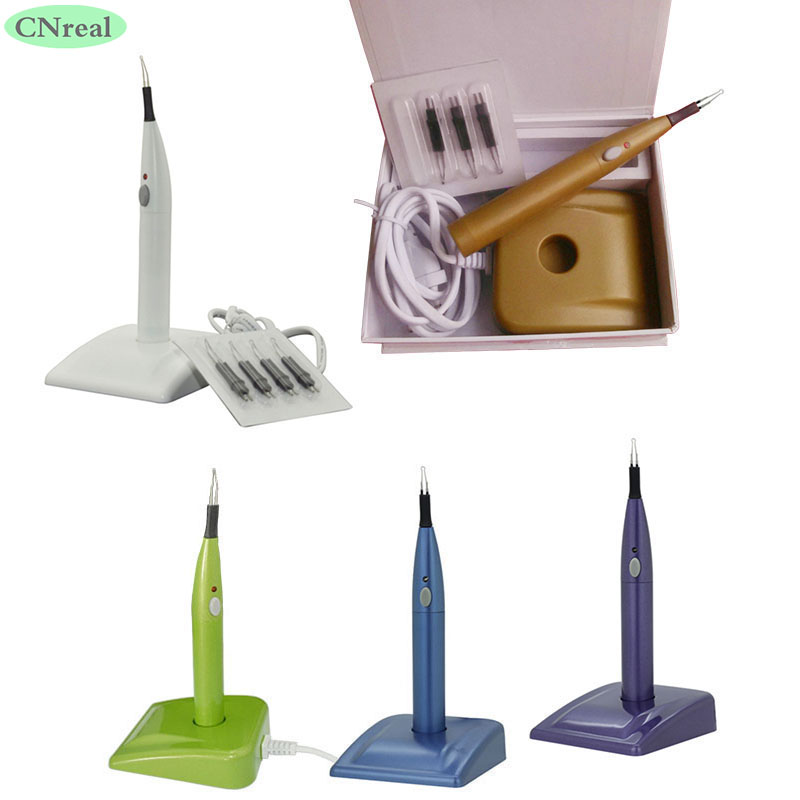 1 pc Dental Gutta Percha Tooth Gum Cutter Breaker with 4 Tips dental endo gutta percha tooth gum cutter with 4pcs heated gutta cutter tips dental clinic tools