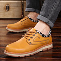 Hot Sale Casual Shoes Men Autumn Winter Waterproof Solid Lace-up Man Fashion Flat With Pu Leather Outdoors Shoe Free Shipping