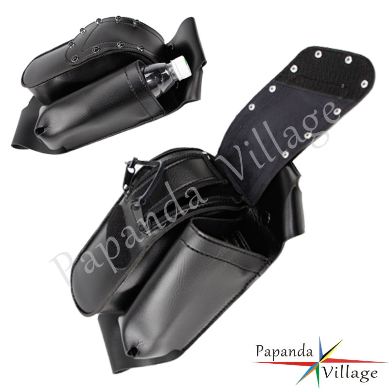 For Harley Road King Electra Glides Road Glides Touring Models Motorcycle Saddle bag Guards Crash Bar Bag w/ Water Bottle Holder