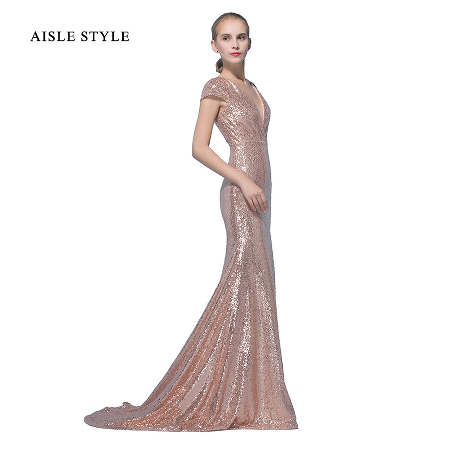 Gatsby Wedding Gown: Aisle Style Great Gatsby Rose Gold Sequin Bridesmaid