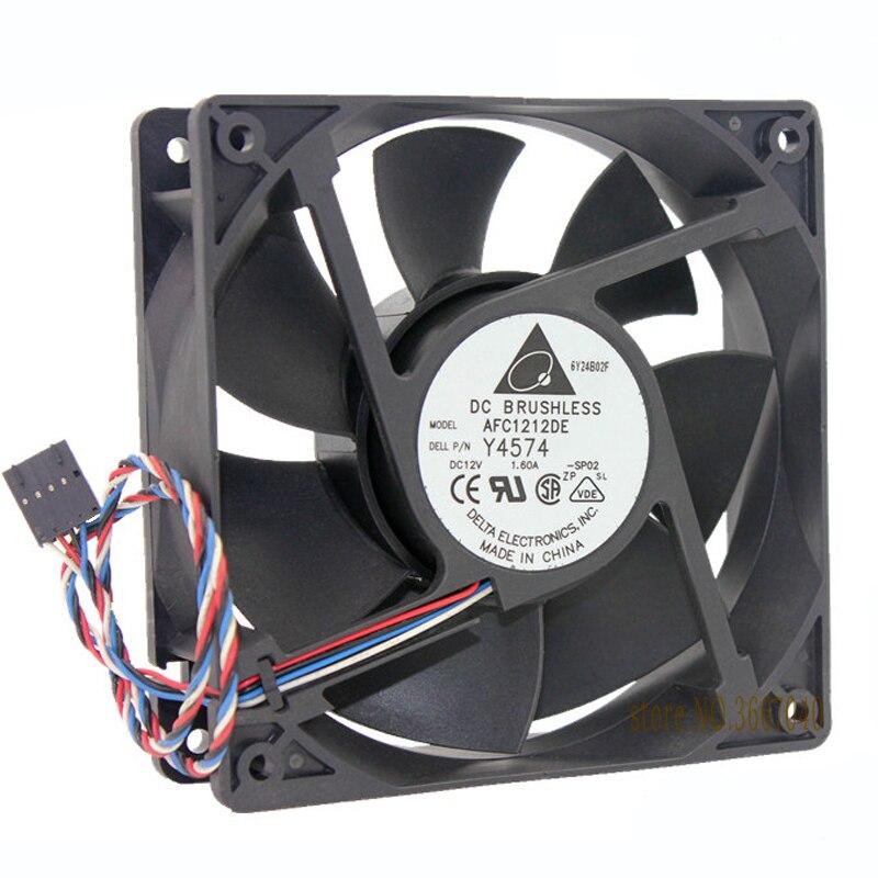 Wholesale Delta AFC1212DE 120*120*38 12cm 12V 1.6A 4-line PWM Control Air Cooling Fan