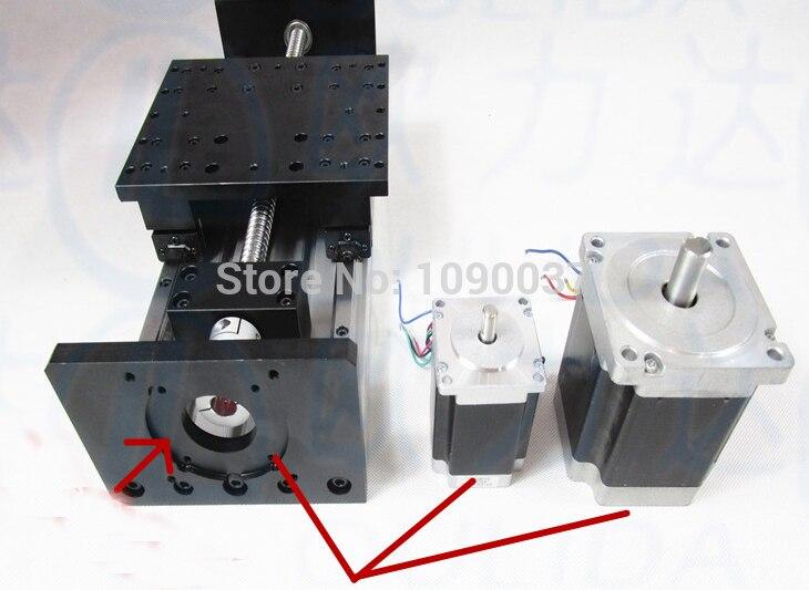GX155 * 150 1610-500mm course efficace vis à billes linéaire glissière linéaire module guide rail nema 23 moteur pas à pas table de travail