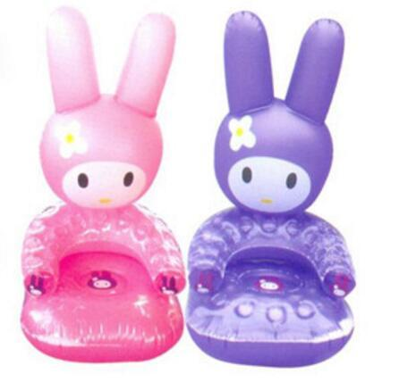 Baby Cartoon Sofa Rabbit Shape Inflatable Sofa Cute Portable Lovely PVC Kids Learn Chair Baby Seats Free Shipping  T01